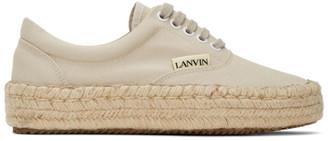 Lanvin Beige Sneaker Espadrilles