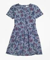 Brooks Brothers Floral Chambray Dress