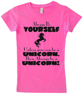 Micro Me Hot Pink 'Be a Unicorn' Fitted Tee - Infant Toddler & Girls