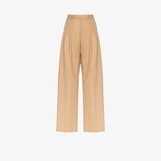 Samuel Guì Yang Pleated Wide Leg Wool Trousers