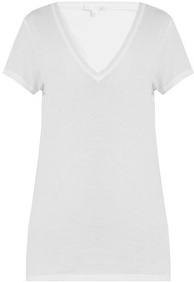 Skin V-neck Cotton Pyjama Top - White