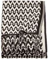 H&M Jacquard-weave Throw - Anthracite gray/natural white