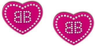 Balenciaga rhinestone embellished Crush earrings