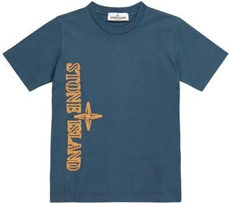 Stone Island Junior Logo cotton jersey T-shirt