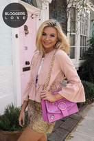 Girls On Film Pink Frill Hem Jacket