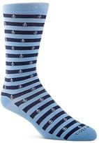Cole Haan Anchor Stripe Crew Socks
