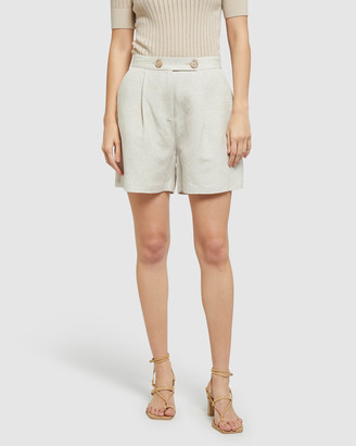 Oxford Women's High-Waisted - Sasha Linen Shorts - Size One Size, 10 at The Iconic