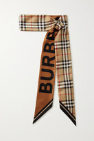 Thumbnail for your product : Burberry Printed Mulberry Silk-twill Scarf - Neutrals