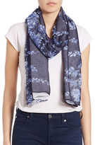 Lord & Taylor Floral Border Scarf