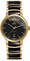 Rado Men's Gold Tone Steel Bracelet & Case Automatic Black Dial Analog Watch R30157162