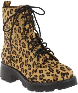 Mia Round Toe Lace-Up Combat Boots - Maverick