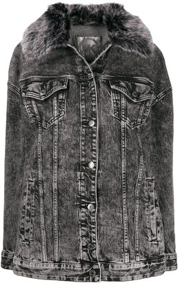 MICHAEL Michael Kors Bleached Denim Jacket