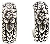 Stephen Dweck Sterling Silver Clip On Flower Hoop Earrings