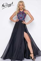 Cassandra Stone - 40627 High Neck Gown In Black Multi
