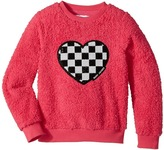 Little Marc Jacobs Soft Faux Fur Heart Illustration Long Sleeve Sweatshirt Girl's Sweatshirt