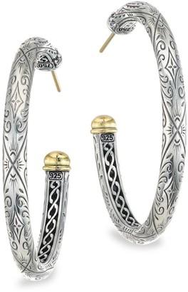 Konstantino Delos 18K Yellow Gold & Sterling Silver Hoop Earrings