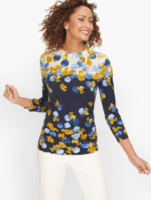 Talbots Cashmere Audrey Sweater - Placed Floral