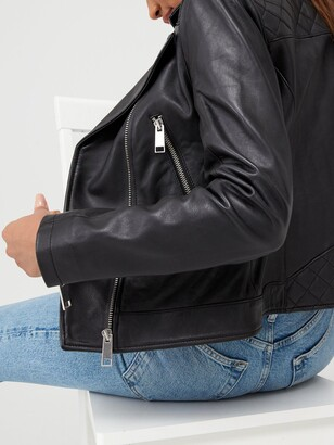 Very Ultimate Leather Biker Jacket - Black