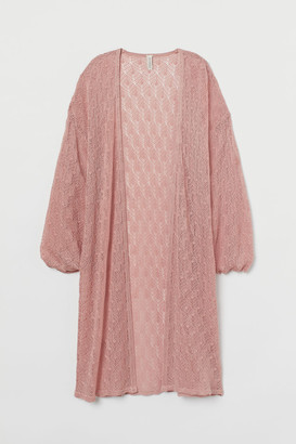 H&M Lace-knit Cardigan - Pink