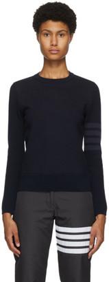 Thom Browne Navy Loopback 4-Bar Sweatshirt