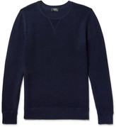 A.p.c. - David Textured Wool And Cotton-blend Sweater