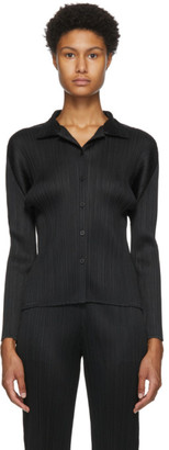 Pleats Please Issey Miyake Black Basics Shirt