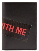 Raf Simons Walk With Me Tape-embellished Leather Wallet