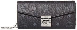MCM Patricia Visetos Flap Wallet/Two-Fold Large (Black) Bags
