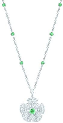 Bvlgari White Gold Emerald and Pave Diamond Divas' Dream Necklace