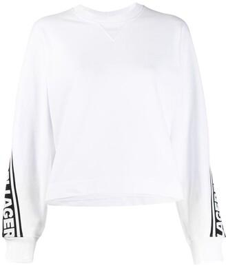Karl Lagerfeld Paris Long Sleeve Logo Stripe Jumper
