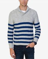 Nautica Men's Multi-Textured Shawl-Collar Sweater
