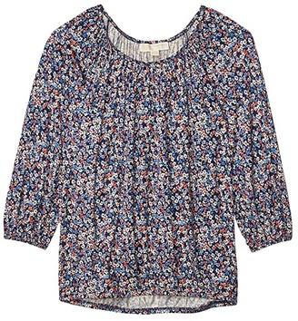 MICHAEL Michael Kors Dainty Bloom Peasant Top (Coral Peach) Women's T Shirt