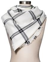 Merona Women's Plaid Scarf Black/White