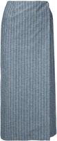 Le Ciel Bleu pinstripe straight skirt - women - Cotton/Linen/Flax/Wool - 34