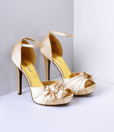Pleaser USA Champagne Pleated Bow d'Orsay Pump