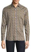 Etro Art Deco Cotton Button-Down Shirt