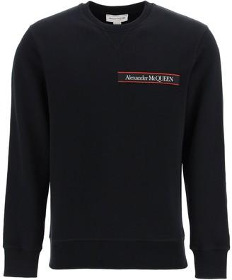 Alexander McQueen Tape Logo Crew Neck Sweatshirt