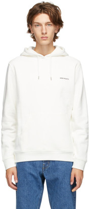 Norse Projects White Vagn Logo Hoodie