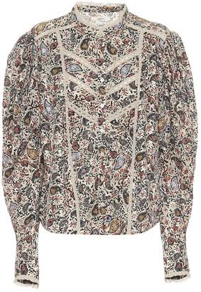 Etoile Isabel Marant Reafi paisley cotton blouse