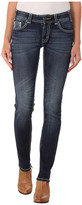 Rock and Roll Cowgirl Mid Rise Skinny in Dark Vintage W1S4500