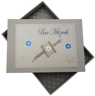 white cotton cards Bar Mitzvah Tiny Photo Album Jewish Gift (Boys)