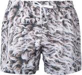 Paura - abstract print swim shorts - men - polyester - L