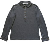 Brooks Brothers Grey Cotton Top for Women