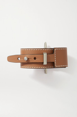 Loewe Gate Leather Bracelet - Tan