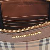 Burberry Peyton Pouch Bag in Bright Toffee and Multi Canvas and Calfskin