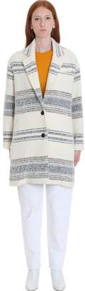 Etoile Isabel Marant Dante Coat In Beige Wool