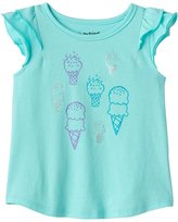 Jumping Beans Baby Girl Jumping Beans® Foiled Graphic Flutter-Sleeve Tee