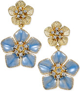 Charter Club Erwin Pearl Atelier For Gold-Tone Colored Flower Crystal Drop Earrings, Only at Macy's