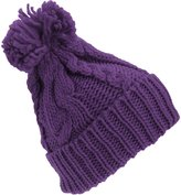 Universal Textiles Womens Heavyweight Cable Knit Winter Hat With Pom Pom