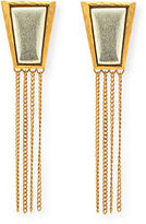 Stephanie Kantis Impose Moss Agate Fringe Earrings
